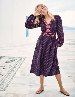 Flossie Embroidered Midi Dress