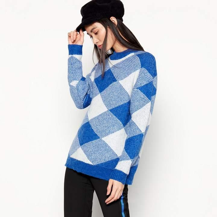 Bright 'Rida' Blue Check Knit