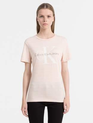 Calvin Klein fitted organic cotton logo t-shirt