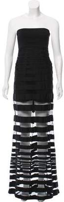 Alexis Striped Strapless Dress