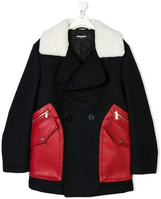 DSQUARED2 TEEN double breasted coat