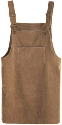 Shein Front Pocket Corduroy Overall Dress