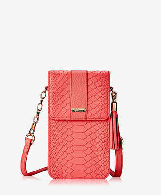 GiGi New York Penny Phone Crossbody Bag Embossed Python
