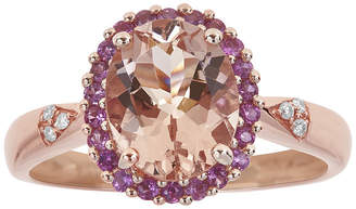 FINE JEWELRY LIMITED QUANTITIES Genuine Morganite, Pink Sapphire and Diamond-Accent Ring