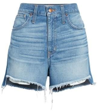 Madewell Perfect Step Hem Denim Shorts