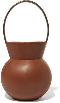 STAUD Keaton Leather Bucket Bag - Tan