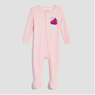 Joe Fresh Baby Girls' Long Sleeve Stripe Sleeper