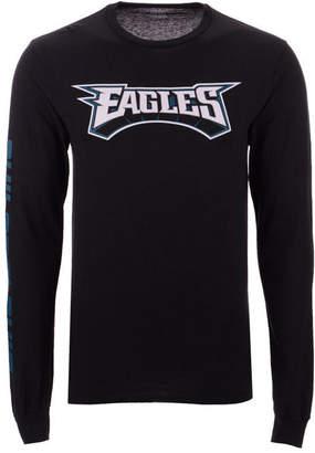Authentic Nfl Apparel Men's Philadelphia Eagles Streak Route Long Sleeve T-Shirt