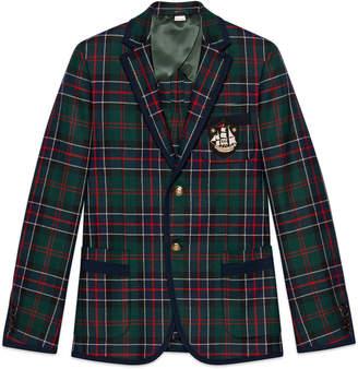 Gucci Monaco tartan cashmere jacket