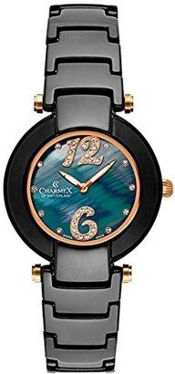 Charmex Tuscany 6268 35 mmセラミックケースブラックセラミック合成サファイアWomen 's Watch