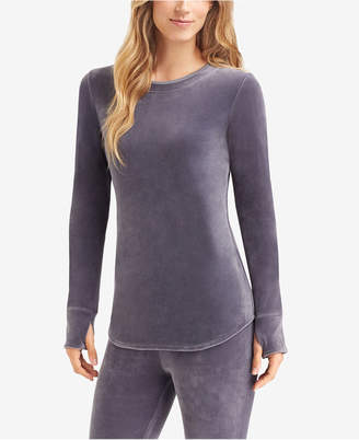 Cuddl Duds Double Plush Velour Long-Sleeve Crew-Neck Top
