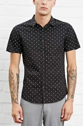 Forever 21 Star Print Pocket Shirt