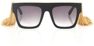 Stella McCartney Chain Tassel square sunglasses