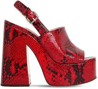 Miu Miu 125mm Snake Printed Leather Sandals
