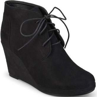 Co Generic Brinley Women's Wedge Faux Suede Booties