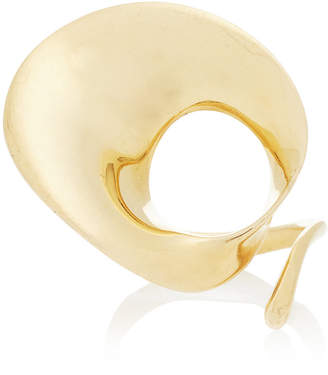 Georg Jensen Mahnaz Collection Limited Edition 18K Gold Mobius Design Ring By Vivianna Torun For C.1965