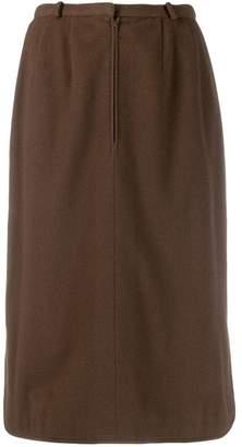 Jean Louis Scherrer Pre-Owned front zip skirt