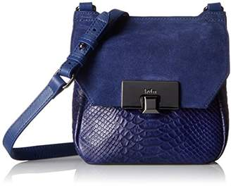 Kooba Handbags Gable Cobalt Cobra Mini Satchel Bag $226 thestylecure.com