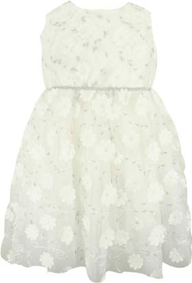 Popatu Embroidered Flower Tulle Dress