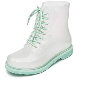 Cavave Women Rain Boots With Lace-Up Rubber Sole Waterproof Ankle Short Women Crystal Boots