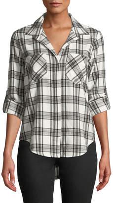 Velvet Heart Riley Plaid Flannel Split-Back Shirt