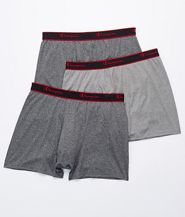 Champion Active Performance Short Leg Boxer Brief 3-Pack