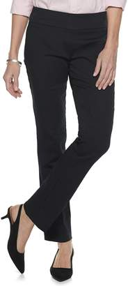 Croft & Barrow Petites Boot Leg Pants