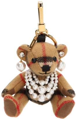 Burberry Thomas Teddy Bear Cashmere Key Ring