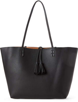 Street Level Black Tassel Tote
