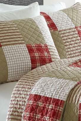 Eddie Bauer Camano Island Plaid Twin Quilt Set - Red