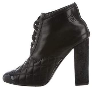 Chanel Quilted Cap-Toe Booties