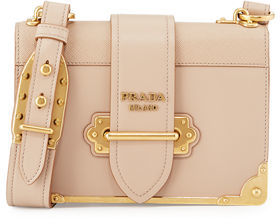 Prada Cahier Leather Shoulder Bag $2,660 thestylecure.com