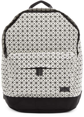 Bao Bao Issey Miyake White and Black Daypack Backpack