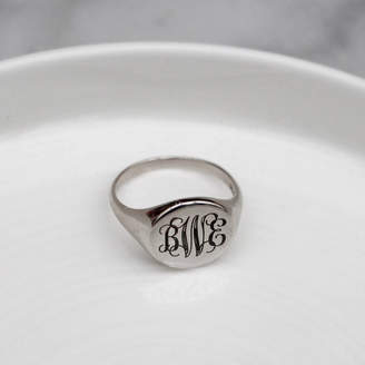 Anna Lou of London Signet Monogram Ring