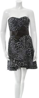 Matthew Williamson Jacquard Strapless Dress