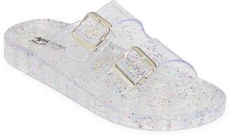 de5e22955b90b Arizona Womens Jelly Glitter Slide Sandals