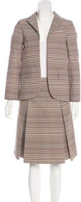Marc Jacobs Striped Skirt Suit