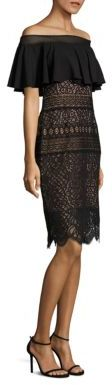 Tadashi Shoji Ruffled Lace Off-The-Shoulder Dress $390 thestylecure.com