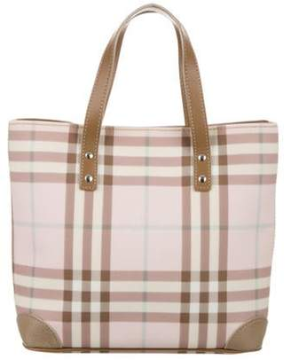 Burberry Candy Check Tote Pink Candy Check Tote