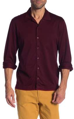 David Donahue Jacquard Knit Sport Shirt