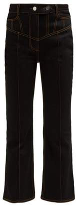 Ellery Presentism High Rise Flared Jeans - Womens - Black