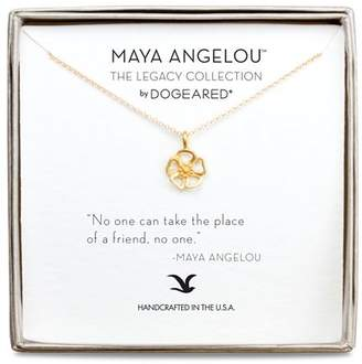 "Dogeared Maya Angelou Legacy Collection ""No One Can Take the Place of a Friend..."" Necklace, 16"""