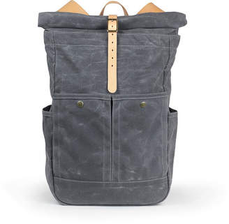 Winter Session Waxed Canvas Roll-Top Backpack