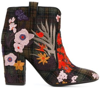 Laurence Dacade 'Pete' embroidered ankle boots $741.82 thestylecure.com