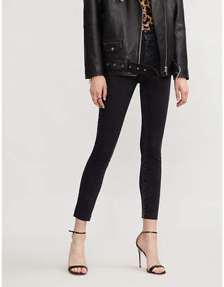 Paige Margot super high-rise distressed skinny jeans