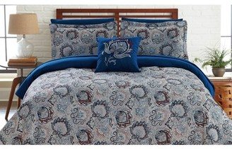 Fine Linens 8 Piece Printed Reversible Complete Bed Set Corsicana - Full