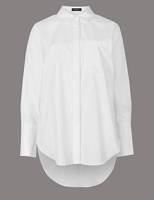 Marks and Spencer Pure Cotton Longline Long Sleeve Shirt