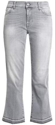 7 For All Mankind Faded Mid-Rise Kick-Flare Jeans