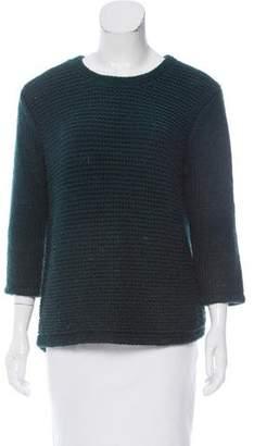 Tibi Cutout Wool-Blend Sweater