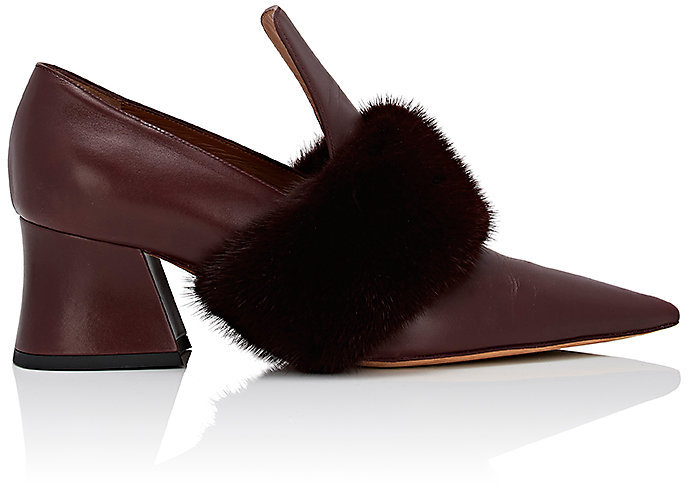 Givenchy Women's Patricia Leather & Fur Loafers